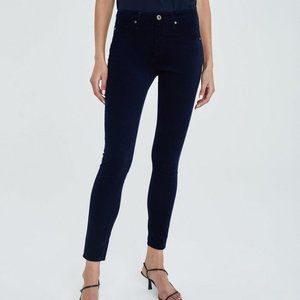 Ag Adriano Goldschmied Jeans - AG Adriano Goldschmied Legging Navy Corduroy Pants